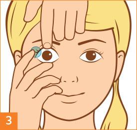 Passo 3: Inserisci le tue lenti a contatto